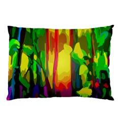 Abstract Vibrant Colour Botany Pillow Case by Nexatart