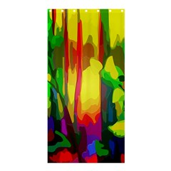 Abstract Vibrant Colour Botany Shower Curtain 36  X 72  (stall)  by Nexatart