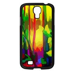 Abstract Vibrant Colour Botany Samsung Galaxy S4 I9500/ I9505 Case (black) by Nexatart