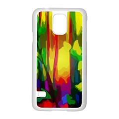 Abstract Vibrant Colour Botany Samsung Galaxy S5 Case (white) by Nexatart