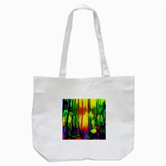 Abstract Vibrant Colour Botany Tote Bag (white) by Nexatart