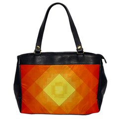 Pattern Retired Background Orange Office Handbags by Nexatart