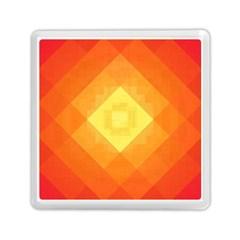 Pattern Retired Background Orange Memory Card Reader (square)  by Nexatart
