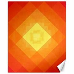 Pattern Retired Background Orange Canvas 11  X 14   by Nexatart