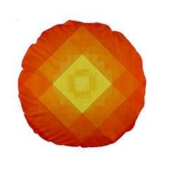 Pattern Retired Background Orange Standard 15  Premium Round Cushions by Nexatart