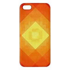 Pattern Retired Background Orange Apple Iphone 5 Premium Hardshell Case by Nexatart