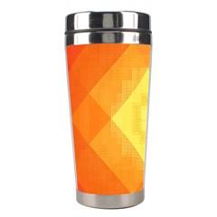 Pattern Retired Background Orange Stainless Steel Travel Tumblers by Nexatart