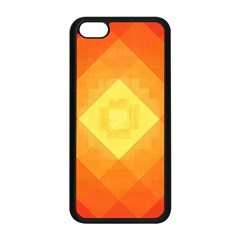 Pattern Retired Background Orange Apple Iphone 5c Seamless Case (black) by Nexatart