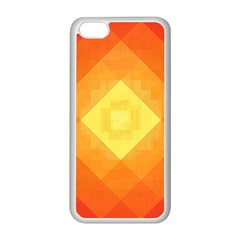 Pattern Retired Background Orange Apple Iphone 5c Seamless Case (white) by Nexatart