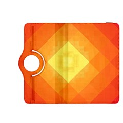 Pattern Retired Background Orange Kindle Fire Hdx 8 9  Flip 360 Case by Nexatart