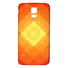 Pattern Retired Background Orange Samsung Galaxy S5 Back Case (white) by Nexatart