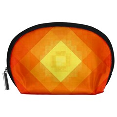 Pattern Retired Background Orange Accessory Pouches (large)  by Nexatart