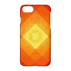 Pattern Retired Background Orange Apple Iphone 7 Hardshell Case by Nexatart
