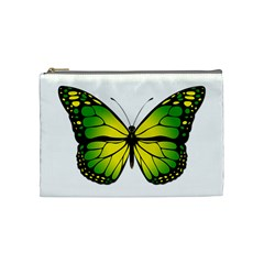 Green Butterfly Cosmetic Bag (medium)  by linceazul