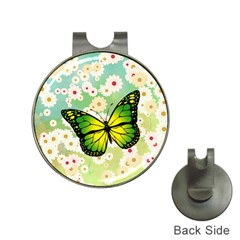 Green Butterfly Hat Clips With Golf Markers by linceazul