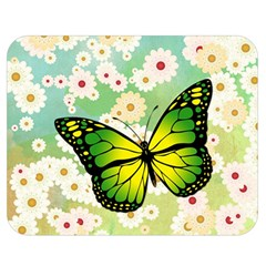 Green Butterfly Double Sided Flano Blanket (medium)  by linceazul
