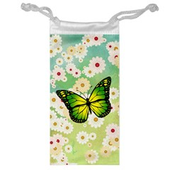 Green Butterfly Jewelry Bag by linceazul