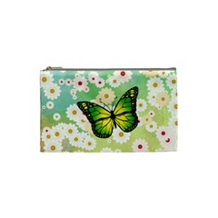 Green Butterfly Cosmetic Bag (small)  by linceazul