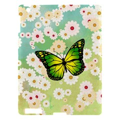 Green Butterfly Apple Ipad 3/4 Hardshell Case by linceazul