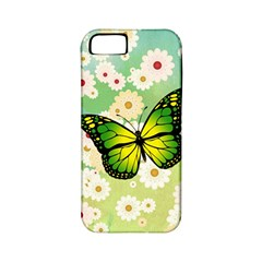 Green Butterfly Apple Iphone 5 Classic Hardshell Case (pc+silicone) by linceazul