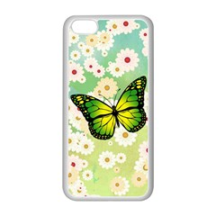Green Butterfly Apple Iphone 5c Seamless Case (white) by linceazul