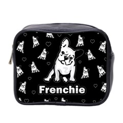 Frenchie Mini Toiletries Bag 2 Side by Valentinaart