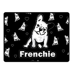Frenchie Fleece Blanket (small) by Valentinaart