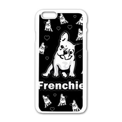 Frenchie Apple Iphone 6/6s White Enamel Case by Valentinaart