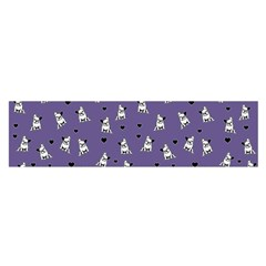French Bulldog Satin Scarf (oblong) by Valentinaart