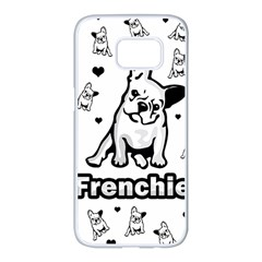 French bulldog Samsung Galaxy S7 edge White Seamless Case by Valentinaart
