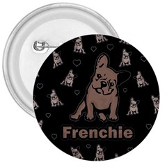 French Bulldog 3  Buttons by Valentinaart