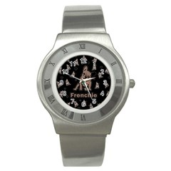 French Bulldog Stainless Steel Watch by Valentinaart