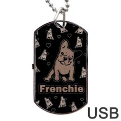 French Bulldog Dog Tag Usb Flash (two Sides) by Valentinaart