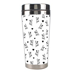 French Bulldog Stainless Steel Travel Tumblers by Valentinaart