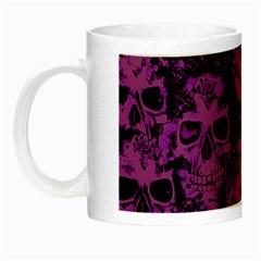 Cloudy Skulls Black Purple Night Luminous Mugs by MoreColorsinLife