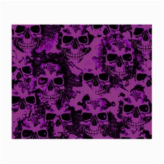 Cloudy Skulls Black Purple Small Glasses Cloth (2 Side) by MoreColorsinLife