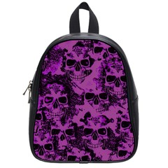 Cloudy Skulls Black Purple School Bags (small)  by MoreColorsinLife