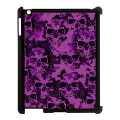 Cloudy Skulls Black Purple Apple Ipad 3/4 Case (black) by MoreColorsinLife