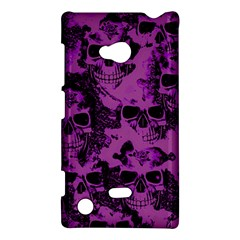 Cloudy Skulls Black Purple Nokia Lumia 720 by MoreColorsinLife