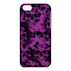 Cloudy Skulls Black Purple Apple Iphone 5c Hardshell Case by MoreColorsinLife