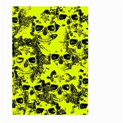 Cloudy Skulls Black Yellow Large Garden Flag (two Sides) by MoreColorsinLife