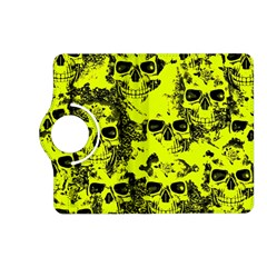 Cloudy Skulls Black Yellow Kindle Fire Hd (2013) Flip 360 Case by MoreColorsinLife