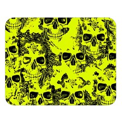 Cloudy Skulls Black Yellow Double Sided Flano Blanket (large)  by MoreColorsinLife