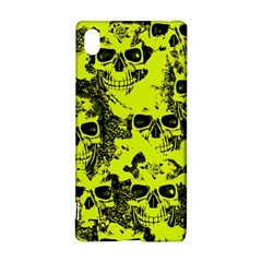 Cloudy Skulls Black Yellow Sony Xperia Z3+ by MoreColorsinLife