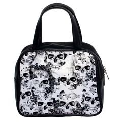 Cloudy Skulls B&w Classic Handbags (2 Sides) by MoreColorsinLife