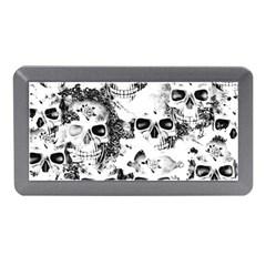 Cloudy Skulls B&w Memory Card Reader (mini) by MoreColorsinLife