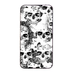 Cloudy Skulls B&w Apple Iphone 4/4s Seamless Case (black) by MoreColorsinLife