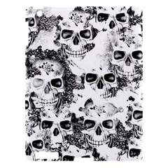 Cloudy Skulls B&w Apple Ipad 3/4 Hardshell Case by MoreColorsinLife