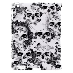 Cloudy Skulls B&w Apple Ipad 3/4 Hardshell Case (compatible With Smart Cover) by MoreColorsinLife