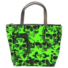 Cloudy Skulls Black Green Bucket Bags by MoreColorsinLife